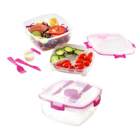 5 Piece Salad & Fruit Lunch Meal Box with Cutlery